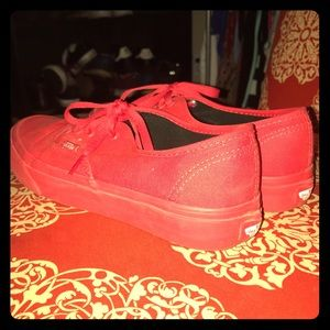 a417e821c0 Women s All Red Vans Shoes on Poshmark